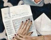 Original Acrylic Painting // Love Letter // Still Life Painting // Wall Art // 18 cm x 24 cm // Cynthia Katz