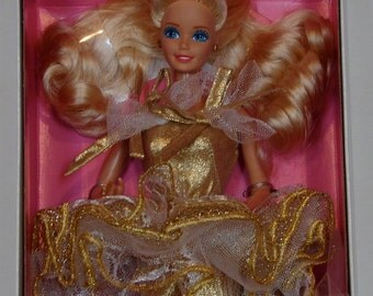 1989 MIB Golden Greetings Barbie, FAO Schwarz Exclusive, Special Limited Edition by Mattel