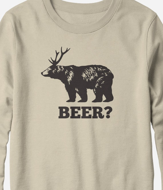 Sweatshirt - Beer Deer - funny beer sweatshirt - You Choose Color