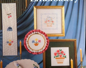 Candlwicking & Embroidery By Leisure Arts Vintage Candlewicking Booklet 1983