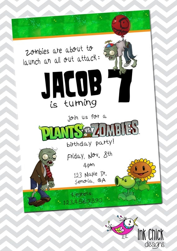 Zombie Birthday Party Invitations for luxury invitations ideas