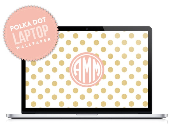 Polka Dot Monogram Laptop Desktop Wallpaper