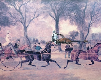 Star Wars Imperial Scout on Speeder Parody Painting, 'Uptown' - Limited Edition Print or Poster, Funny Star Wars Print, Gift for Star Wars