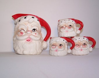 RARE Vintage Santa Pitcher Christmas Holiday Collectible Home Decor