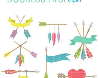 Decorative Arrow Set Digital Clip Art for Scrapbooking Card Making Cupcake Toppers Paper Crafts