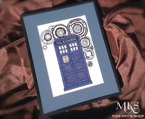 Tardis Doctor Who Cross Stitch Pattern Instant Download