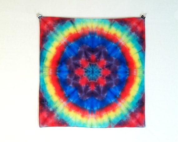 tie dye bandana rainbow mandala pool 22 by