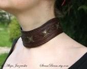 Thorbjørn - leather choker, Viking Age style inspired necklace