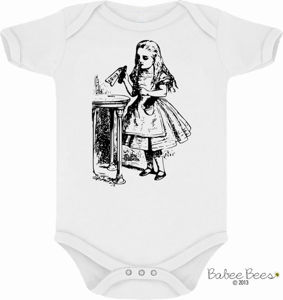 Alice in Wonderland Drink Me Cute Baby Clothes Custom by