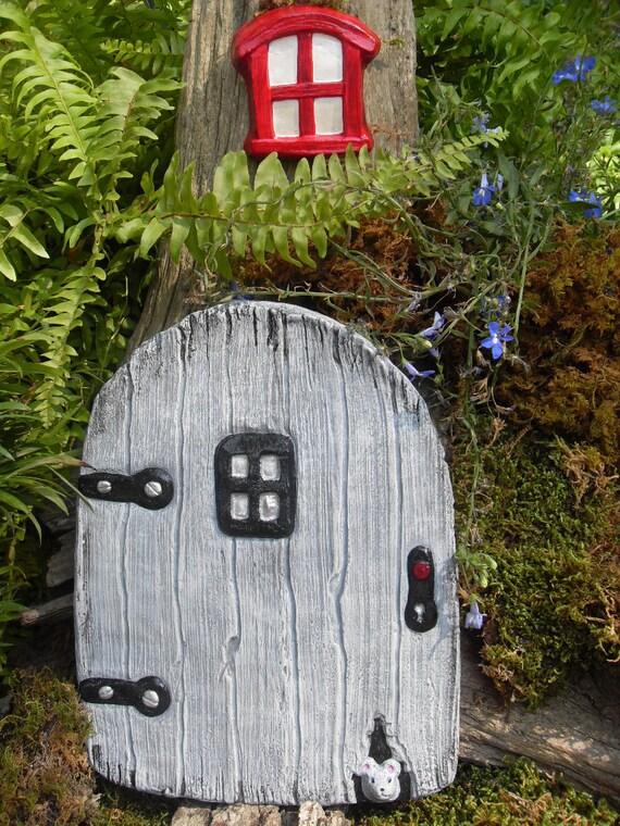 Gnome door fantasy fairy door sculpture with by for Amazon uk fairy doors