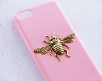 iPhone 5c Pink Case Bee iPhone 5c Smartphone Case Insect Cases Girly iPhone 5c Gift Ideas for Girfriend Birthday iPhone 5c Cover Hard Case