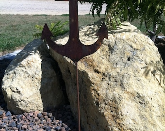 Metal Anchor Yard Stake Decoration