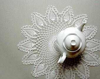 Table crochet doily, crochet tablecloth, italian doilies, coffee table