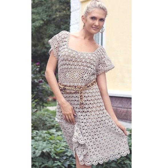 Free Crochet Dress Patterns In English : Crochet dress PATTERN crochet tunic pattern crochet beach