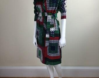 Lanvin bold geometric patterned shirt dress