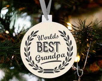 grandpa Christmas ornament - personalized announcing pregnancy christmas grandpa ornament WBGO