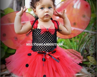 Lady Bug Tutut Dress with Wings