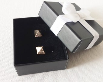 Black and white earring box, tiny gift box, stud gift box,earring gift box, black and white ,favor boxes, small gift box, wedding favors