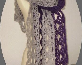 mohair crochet shawl, soft stole