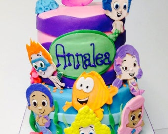 Bubble Guppies Fondant Cake Toppers