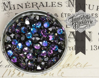 Swarovski Heliotrope Rhinestones Art. 4800 Heart (5.5x5mm) - Austrian First Quality MC Crystal - 8pcs
