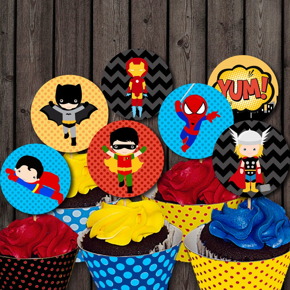 Superhero Ring Cupcake Toppers Popular Items For On