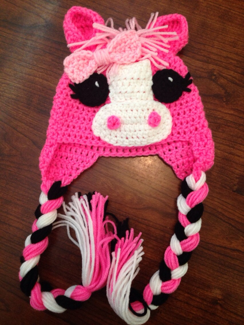 Little Pony Horse Hat Child Crochet Hat Baby Crochet Hat