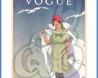 Vogue Bathing Beauty Cover INSTANT DOWNLOAD