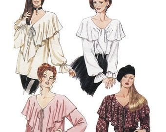 McCall's Sewing Pattern 6847 Misses Tops   Size Y XS-M