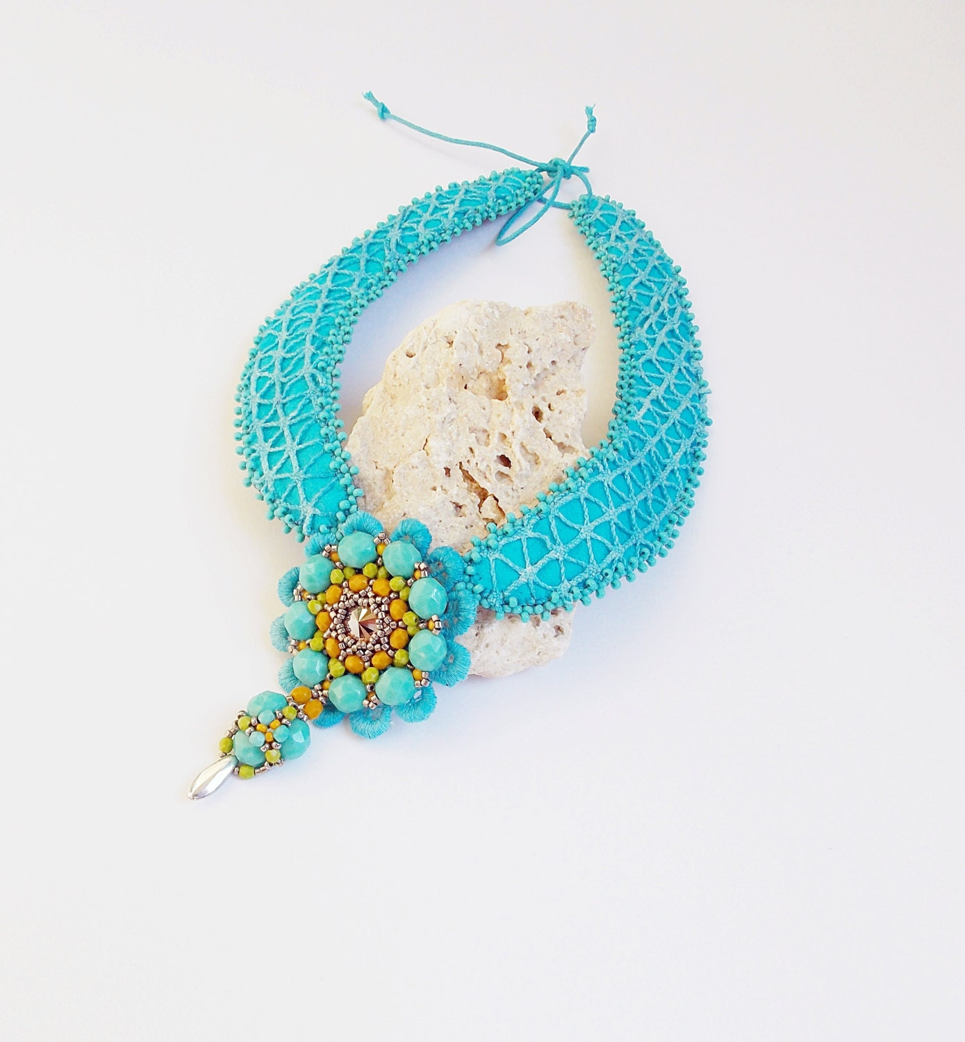 sale turquoise beaded jewelry unique handmade by