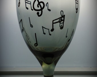 Musically inclined wine glass
