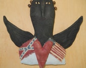 Civil War Angel - she honors both North and South with representative flags    Ready to Ship