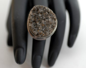 Rock Candy Druzy Silver Ring
