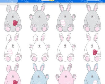 Easter bunny clipart – Etsy