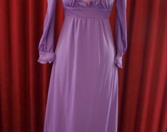 1970's Purple Maxi Dress