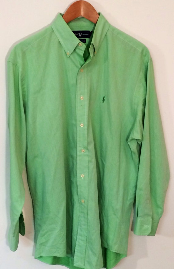 Ralph Lauren men's long sleeve button down shirt mint