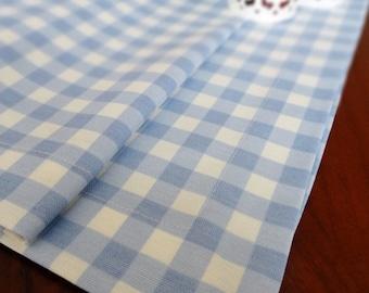 Duck Linen Table Runner, Blue Gingham Tablecloth, Housewares, Wedding, Home  Decor,
