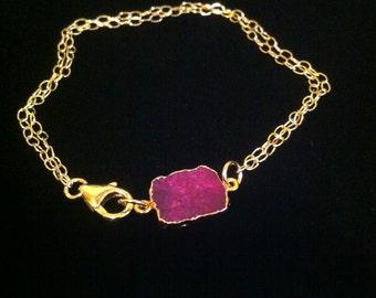 Dyed Purple Turquoise Bracelet