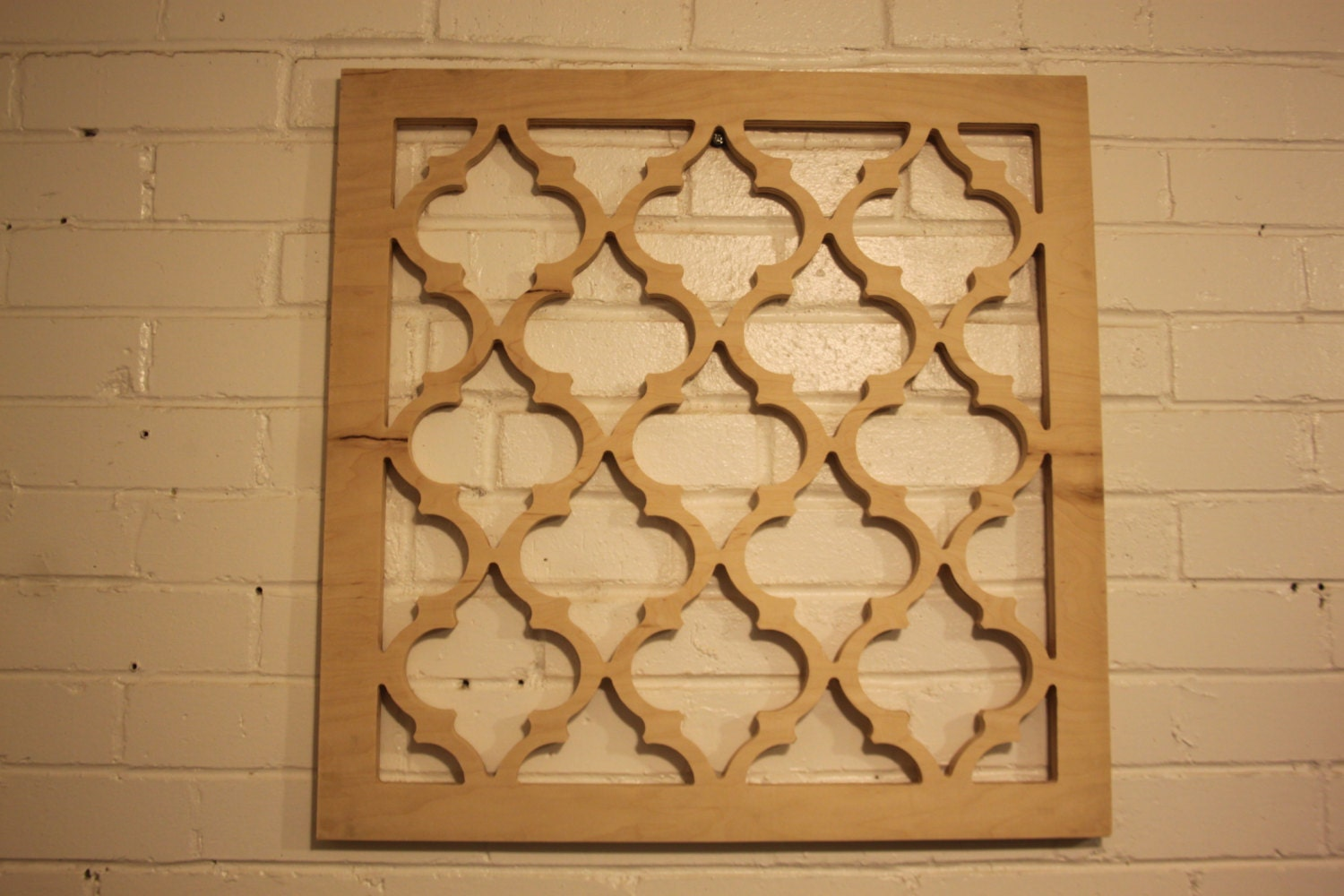 Wooden Lattice Wall Decor : Moroccan lattice wall hanging  wood unfinished