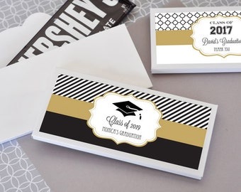 Graduation favors etsy for Free printable graduation candy bar wrappers templates