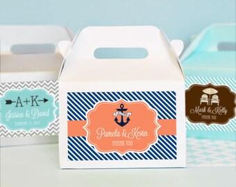 Beach Wedding Favor Boxes - Beach Wedding Ideas - Nautical Bridal Shower Favors - Beach Theme Wedding Favors Party Favors for Wedding 12 pcs