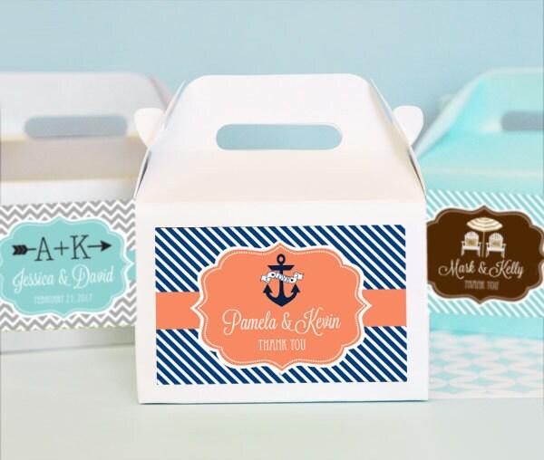 Beach Wedding Favor Boxes Beach Wedding Ideas Nautical Bridal