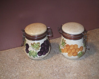 Tuscany styled small vintage canisters.