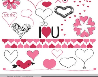 Heart to Heart - commercial use vector graphics clipart clip art illustrations digital images PNG - Instant Download