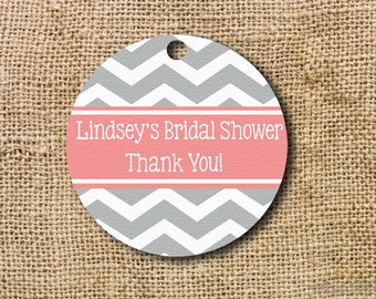 Chevron Shower Favor Tags Set of 10