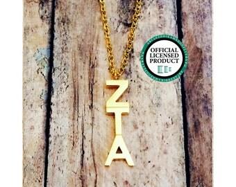 Zeta Tau Alpha Letter Necklace | Sorority Necklace | Sorority Lavalier | Zeta Tau Alpha Lavalier | Zeta Tau Alpha Necklace | ZTA Jewelry
