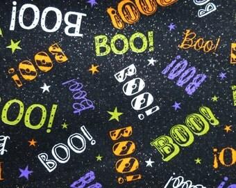 Halloween boo dog bandana slides over the collar