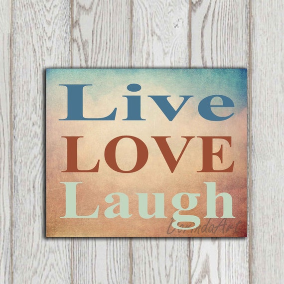 Live Love Laugh Quote Printable Inspirational Quote By
