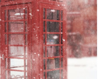 Travel photography red telephone booth british telephone booth photography red photography winter photography british home decor RED TARDIS