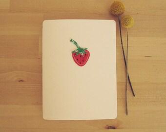 Strawberry journal notebook